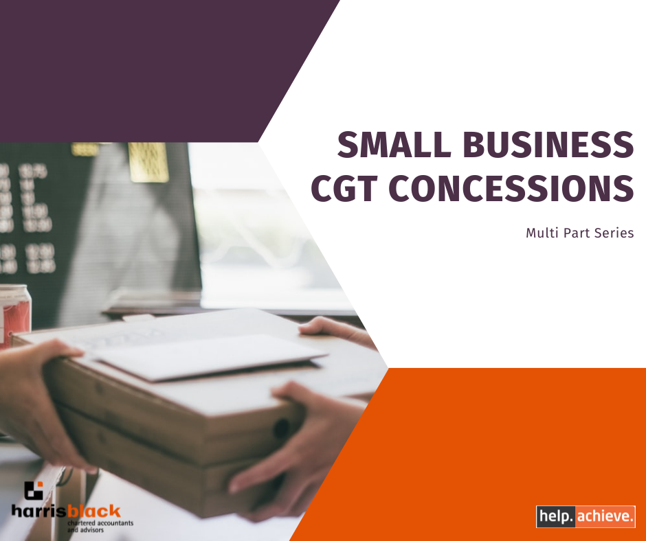 Small Business CGT Concessions (Multi Part Series)